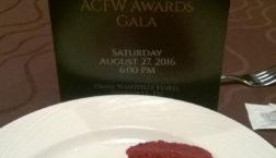 ACFW Gala Dessert and Program